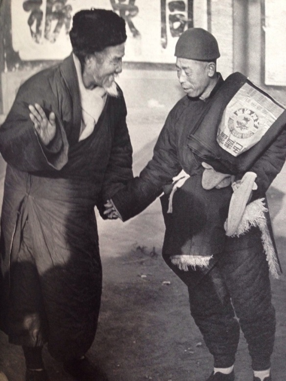About eight days before the departure of the Kuomintang troops and the arrival of the People's Army, life in Peking goes on peacefully. A street trader is delighted to meet a friend who has just bought a length of cotton material. Respect, benevolence and clam, virtues which the Chinese are unwilling to lose in any circumstances, are practised on the eve of one of the greatest changes in China's long history.