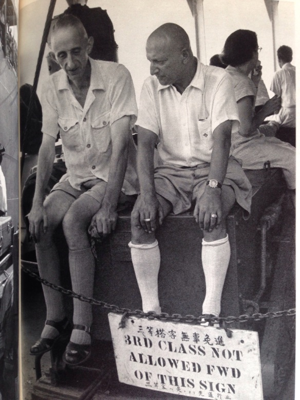 Aboard ship.  A group of Europeans and Americans who had long been resident in Shanghai.